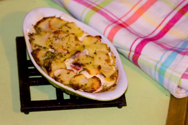 Gratin panais et pommes de terre